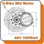 Mobile Preview: E-BIKE MID Mittelmotor Kit Pedelec 48V 350 Antrieb Umbausatz Inside Controller