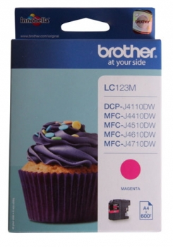 Brother LC123M Tintenpatrone Magenta