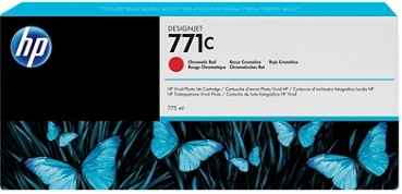HP B6Y08A Tintenpatrone Chromatic Red No.771