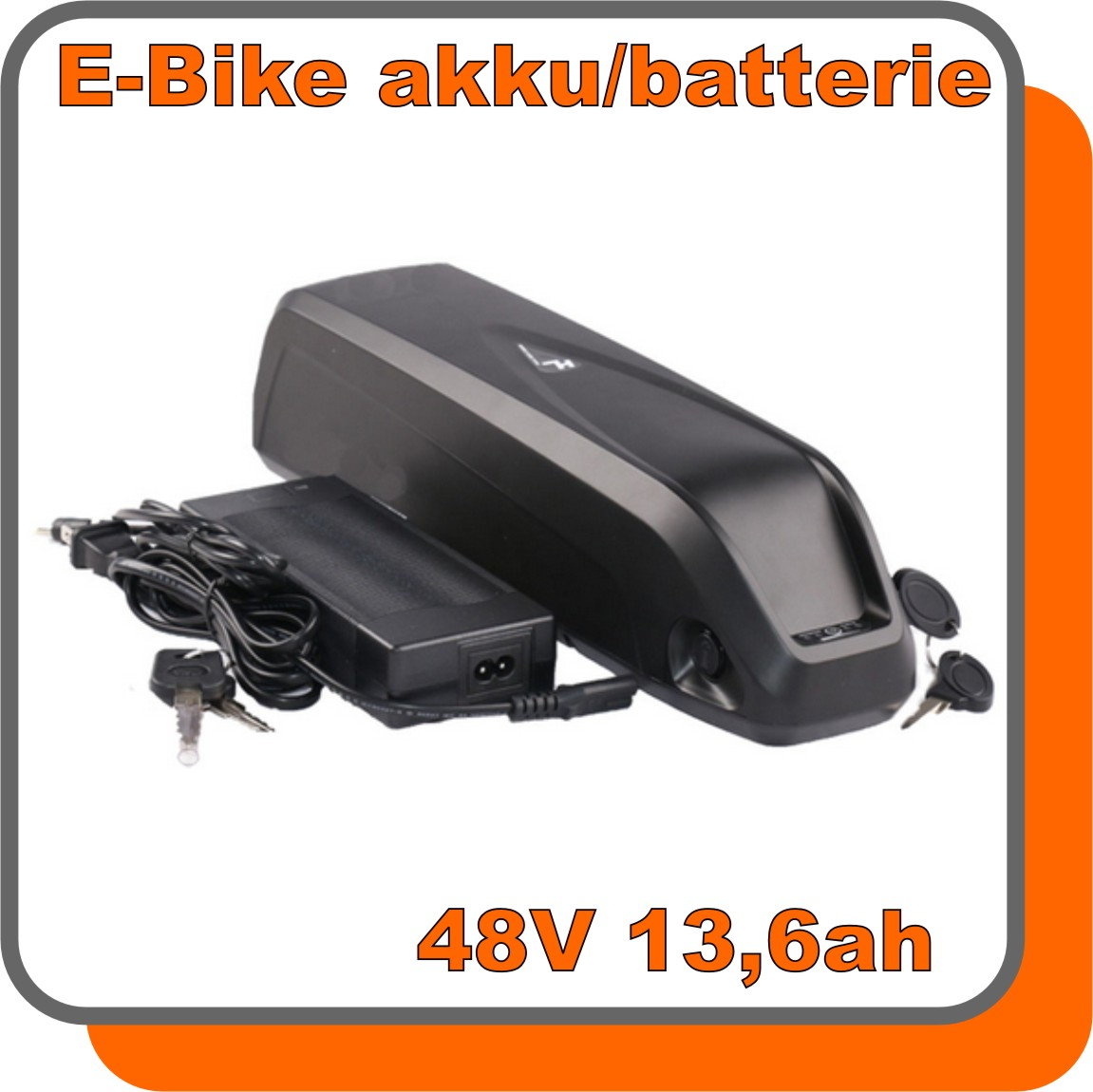 cyberlution akku e bike 48v 13 6ah lithium ionen schwarz black 653wh ladeger t led anzeige. Black Bedroom Furniture Sets. Home Design Ideas