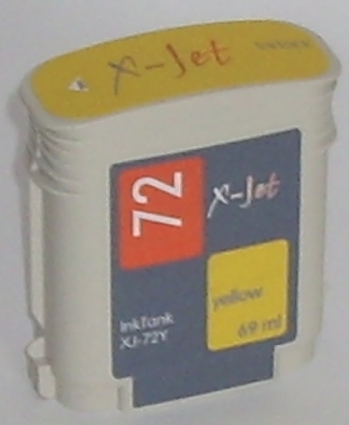 X-Jet HP C9400A Tintenpatrone Yellow No.72